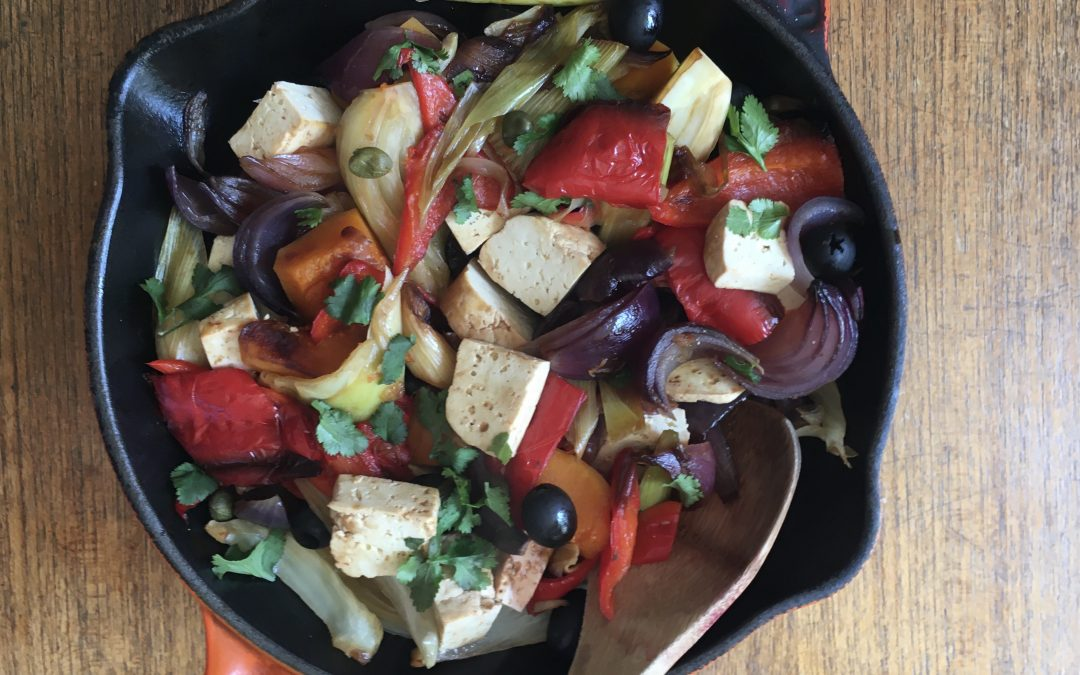 Stove-top Vegetables with Smoked Tofu