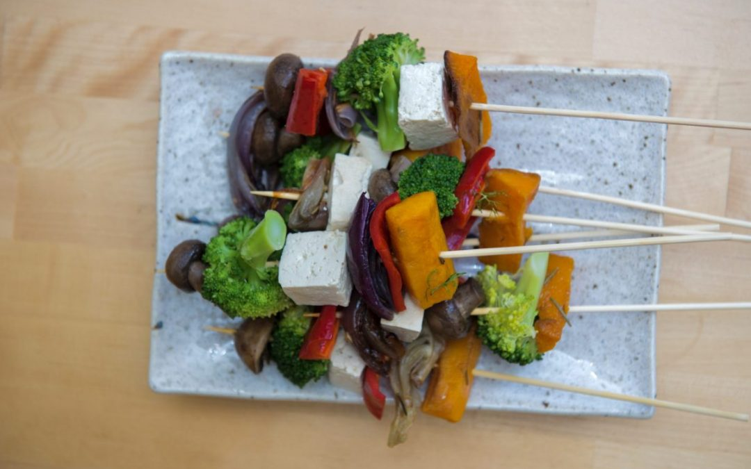 Tofu and Vegetable Kebabs