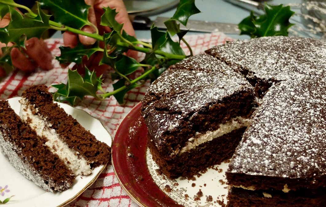 Chocolate Yule Cake