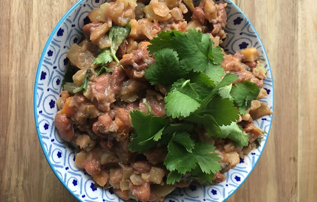 Savoury Re-fried Pinto Beans